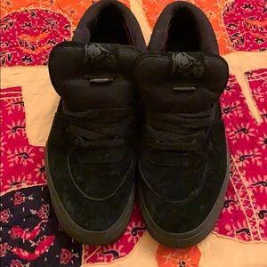 Vans Metallica black suede sneakers